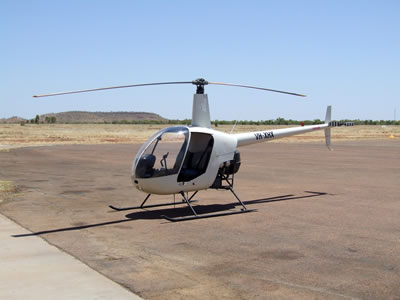 Robinson Mustering Helicopter