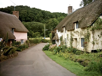 Dunster village England